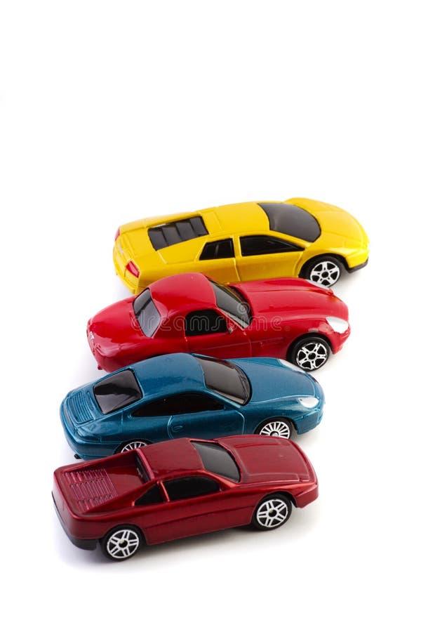 Geparkeerde auto's royalty-vrije stock afbeelding