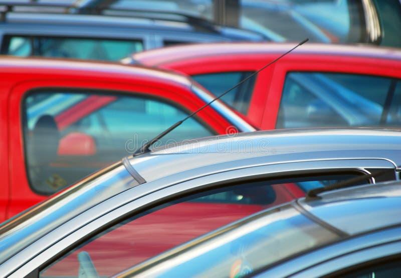 Geparkeerde auto's royalty-vrije stock foto
