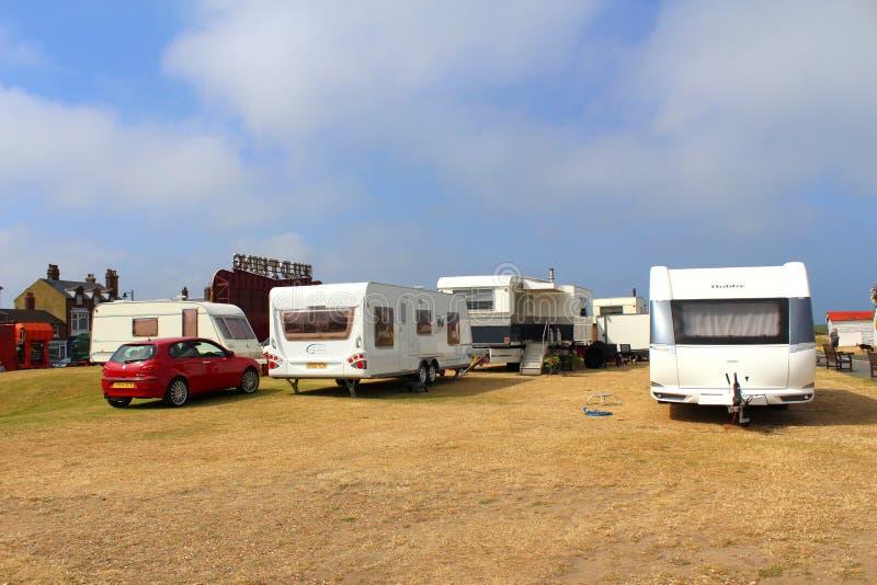 Geparkeerde caravans royalty-vrije stock fotografie