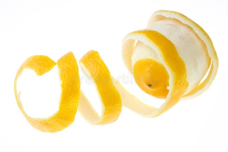 Gepeld citroenfruit royalty-vrije stock afbeeldingen