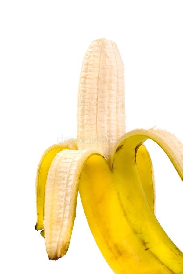Gepelde banaan royalty-vrije stock foto's