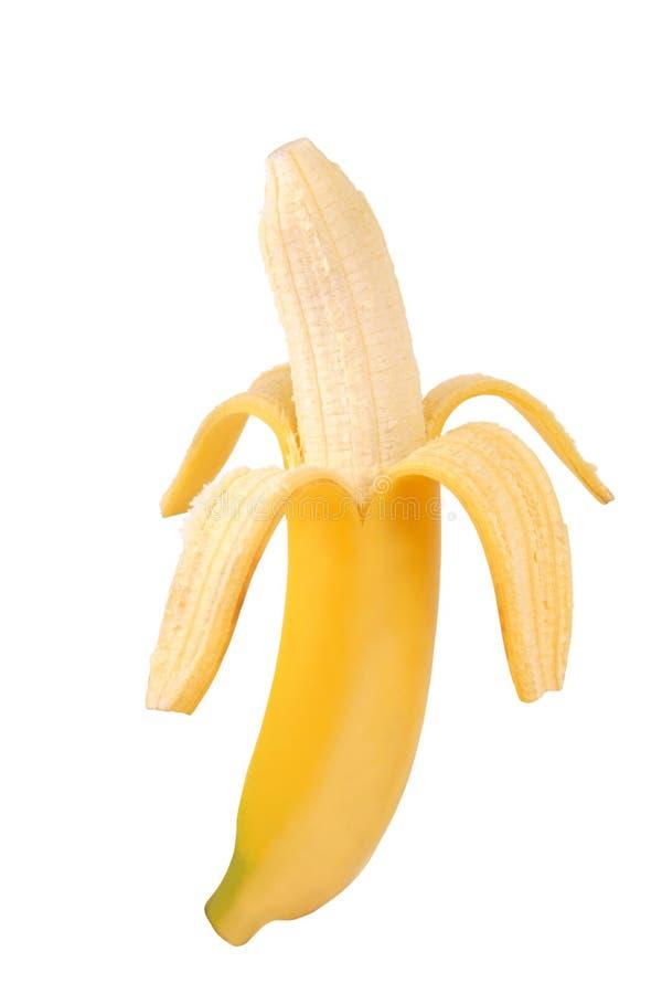 Gepelde banaan stock fotografie