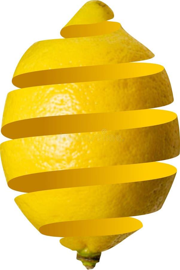 Gepelde citroen royalty-vrije illustratie