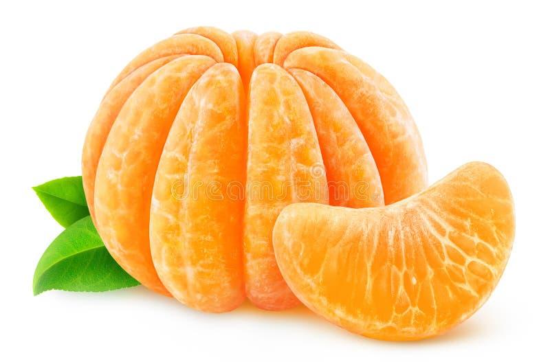 Gepelde mandarijn of clementine stock afbeeldingen