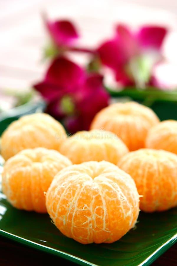 Gepelde Satsuma-mandarijnen royalty-vrije stock afbeeldingen