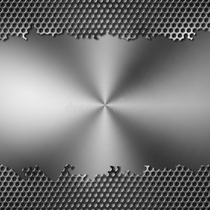 Geperforeerd metaal stock illustratie