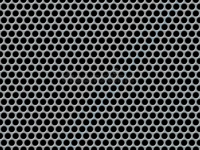 Geperforeerde metaalachtergrond vector illustratie