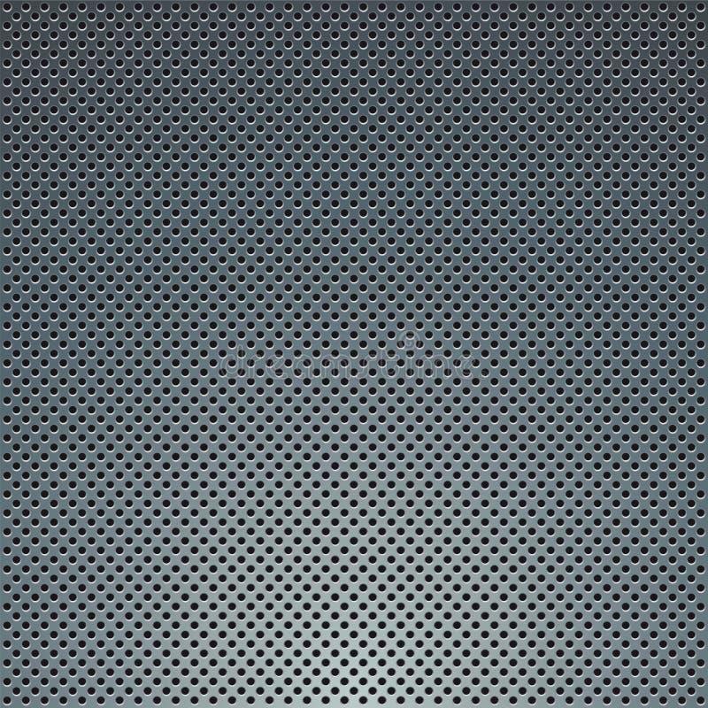 Geperforeerde metaalplaat stock illustratie