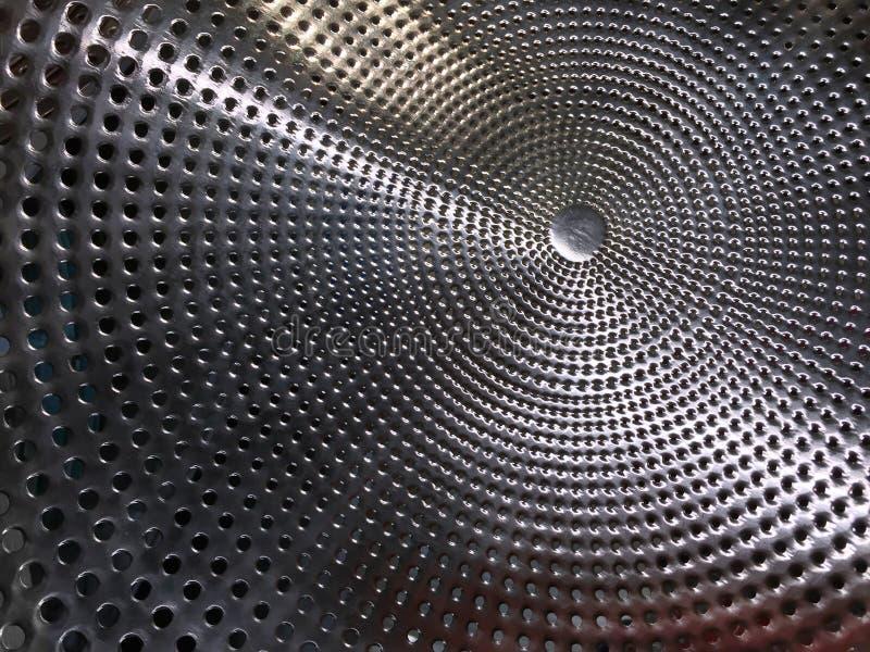 Geperforeerde roestvrij staaltextuur stock afbeeldingen