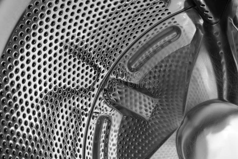 Geperforeerde roestvrij staaltrommel van wasmachine Abstracte industriële achtergrond stock foto's
