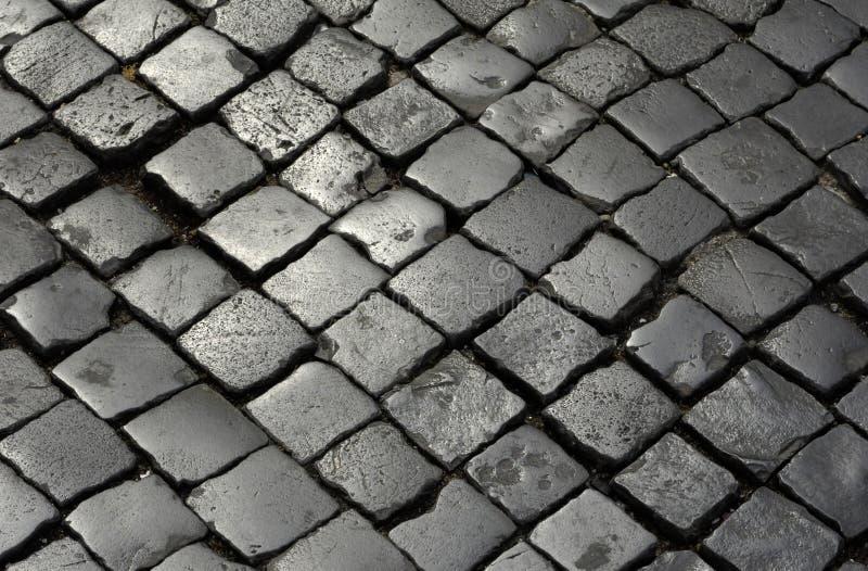 Gepflasterte Steine stockbild