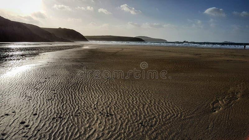 Geplätscherter Sand lizenzfreie stockfotos