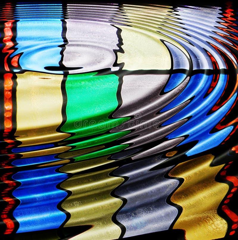 Geplätschertes Buntglas stock abbildung