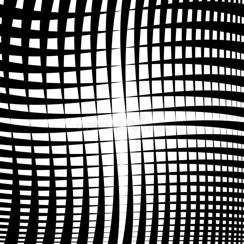 Geplätschertes Gitter, Masche - das Schneiden zeichnet Beschaffenheit, abstraktes monoch stock abbildung