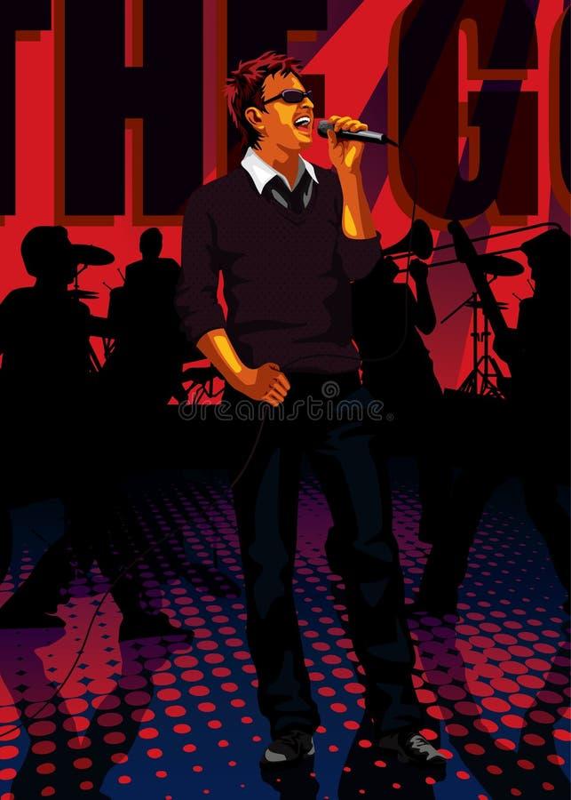 Geplaatst beroep: band zanger stock illustratie