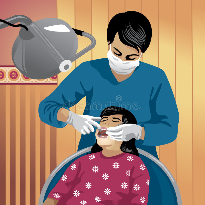 Geplaatst beroep: tandarts vector illustratie