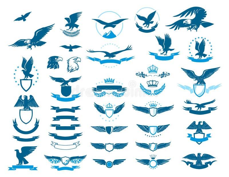 Geplaatst Eagle vector illustratie