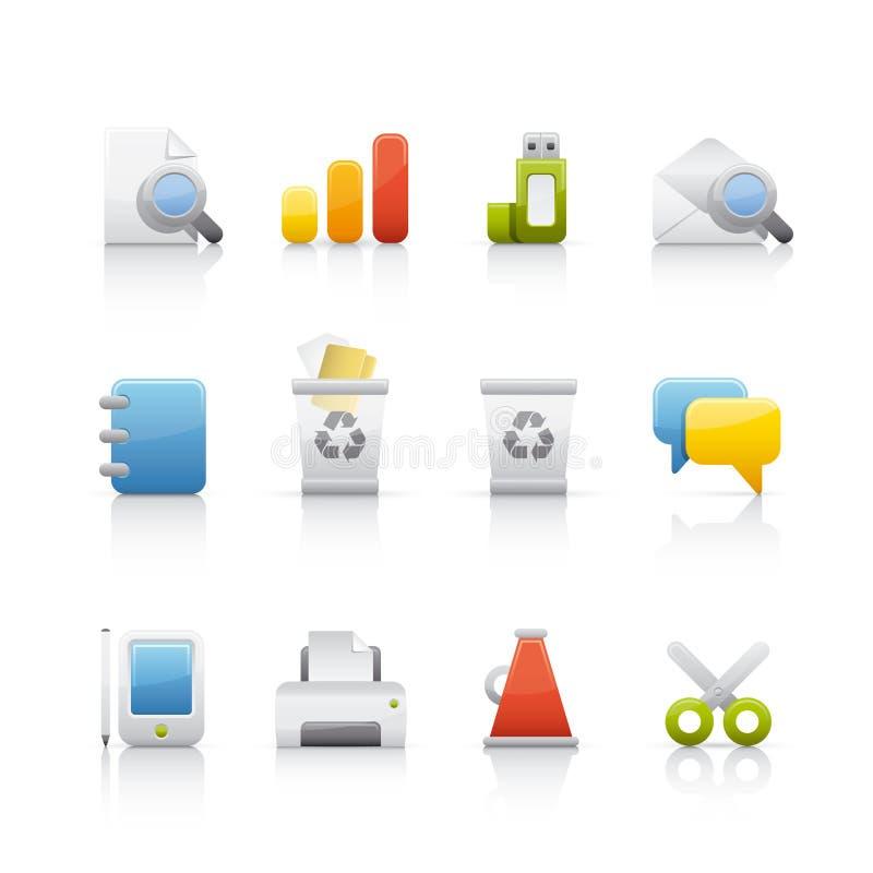 Geplaatst pictogram - Bureau & Bussines royalty-vrije illustratie
