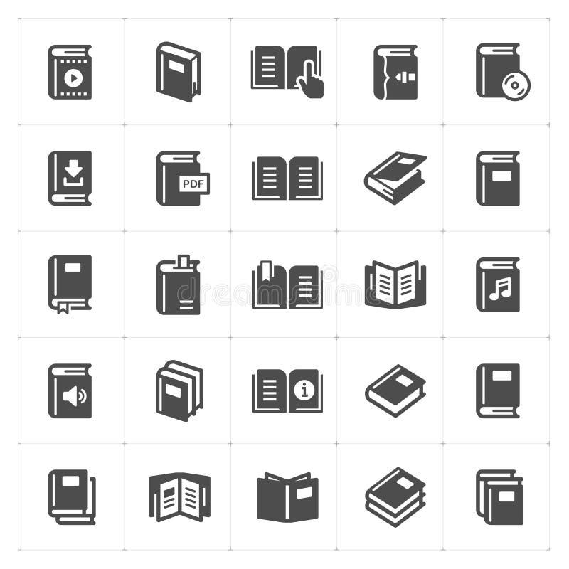 Geplaatst pictogram - de boek gevulde vector van de pictogramstijl vector illustratie