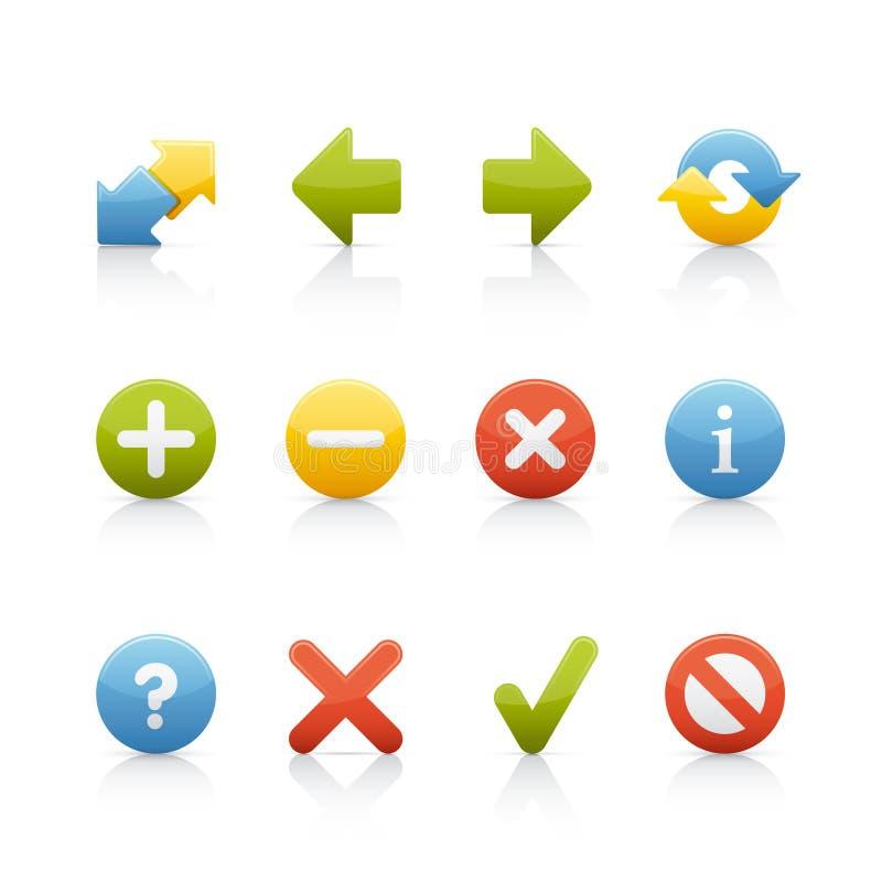 Geplaatst pictogram - de Knopen van de Navigatie royalty-vrije illustratie