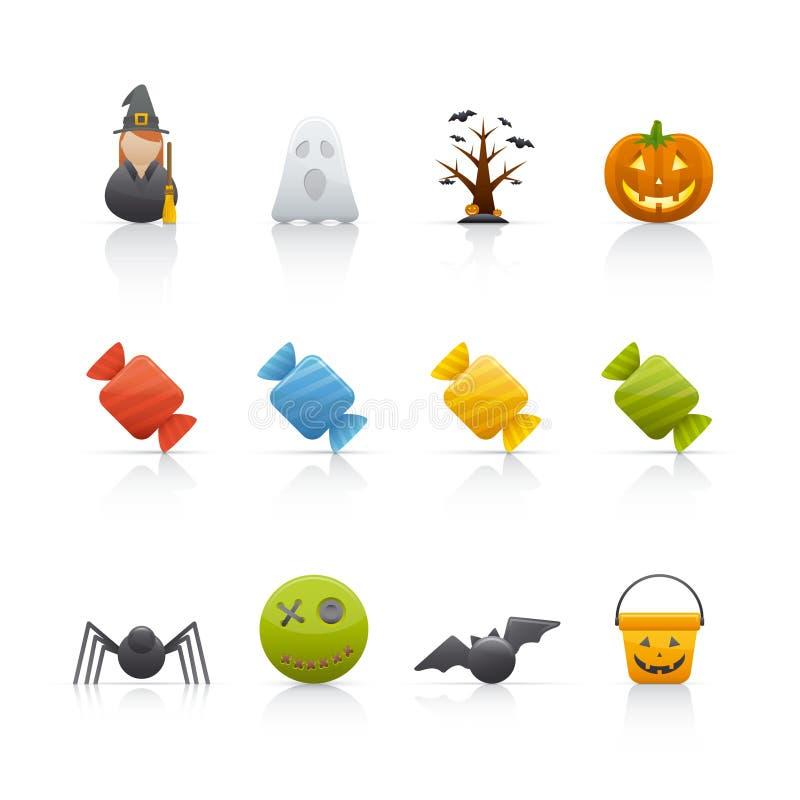 Geplaatst pictogram - Halloween 2 stock illustratie