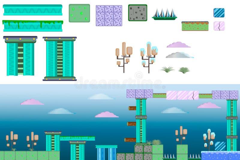 Geplaatst platform mirZodec vector illustratie
