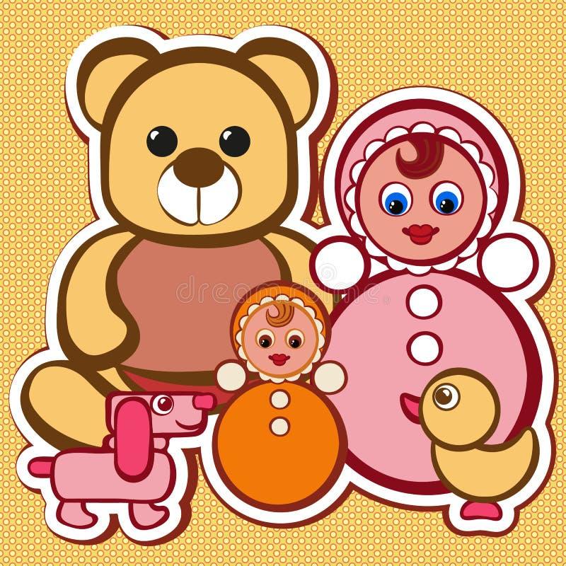 Geplaatst speelgoed vector illustratie