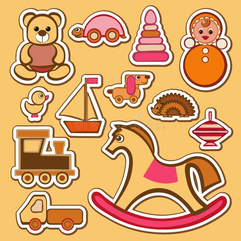 Geplaatst speelgoed royalty-vrije illustratie