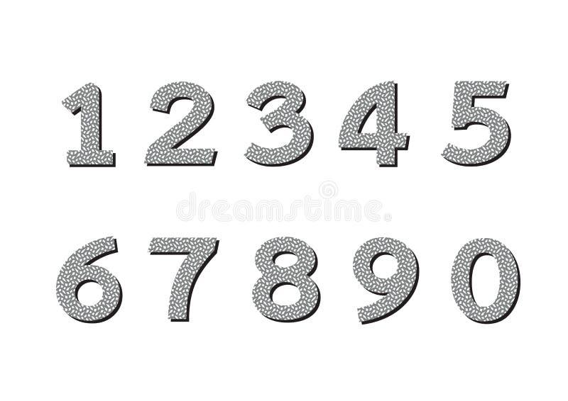 Geplaatste aantallen Illustratie royalty-vrije illustratie
