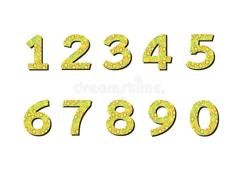 Geplaatste aantallen Illustratie vector illustratie