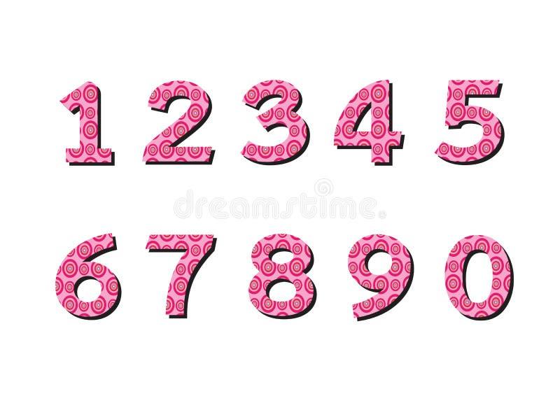 Geplaatste aantallen Illustratie stock illustratie