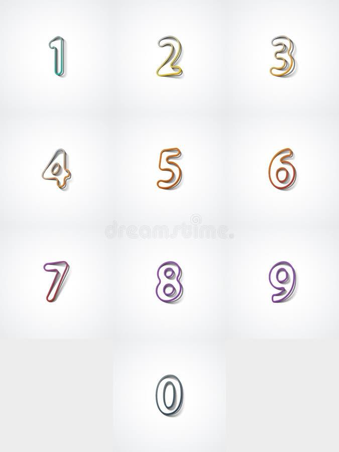 Geplaatste aantallen, Webpictogram stock fotografie