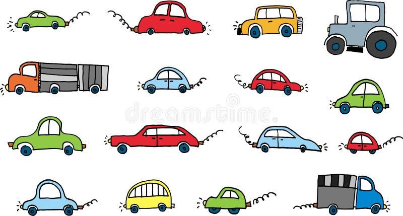 Geplaatste auto's stock illustratie