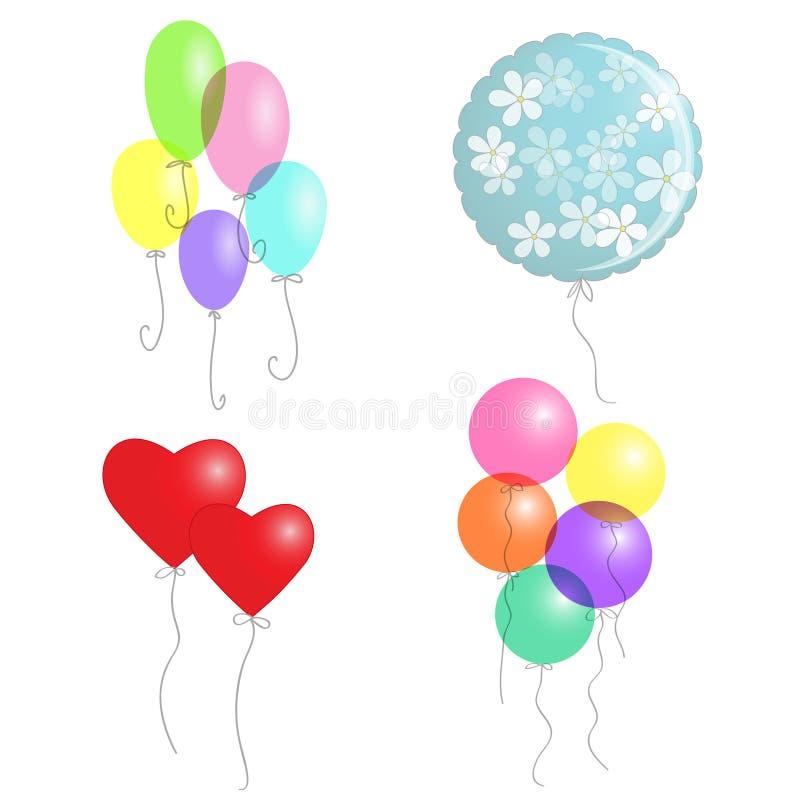 Geplaatste ballons royalty-vrije stock fotografie