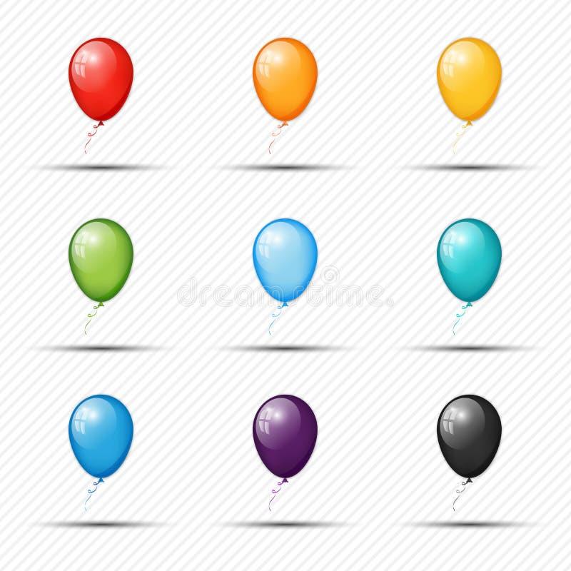 Geplaatste ballons vector illustratie