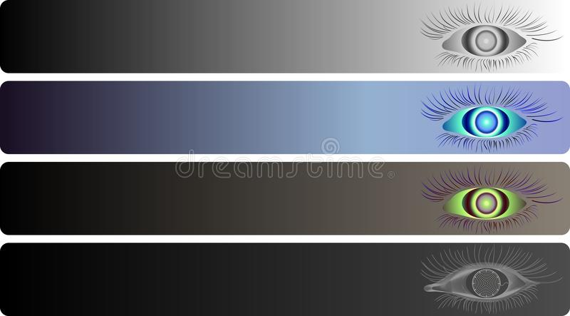Geplaatste banners vector illustratie