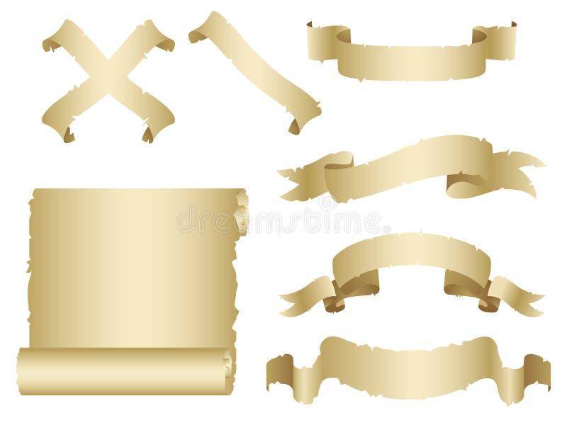 Geplaatste banners royalty-vrije illustratie