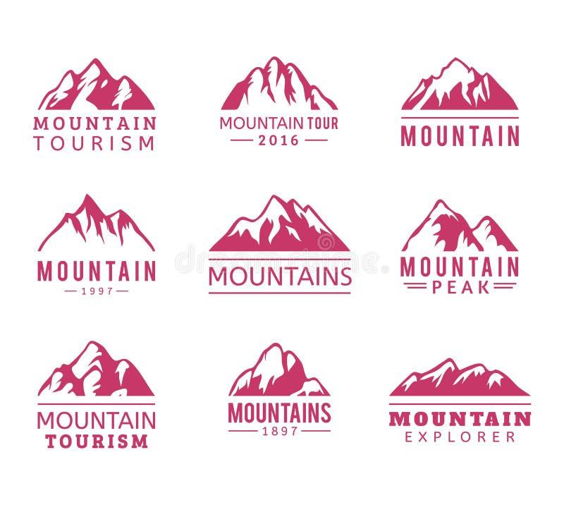 Geplaatste berg vectorpictogrammen