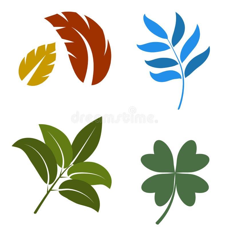 Geplaatste bladeren vector illustratie