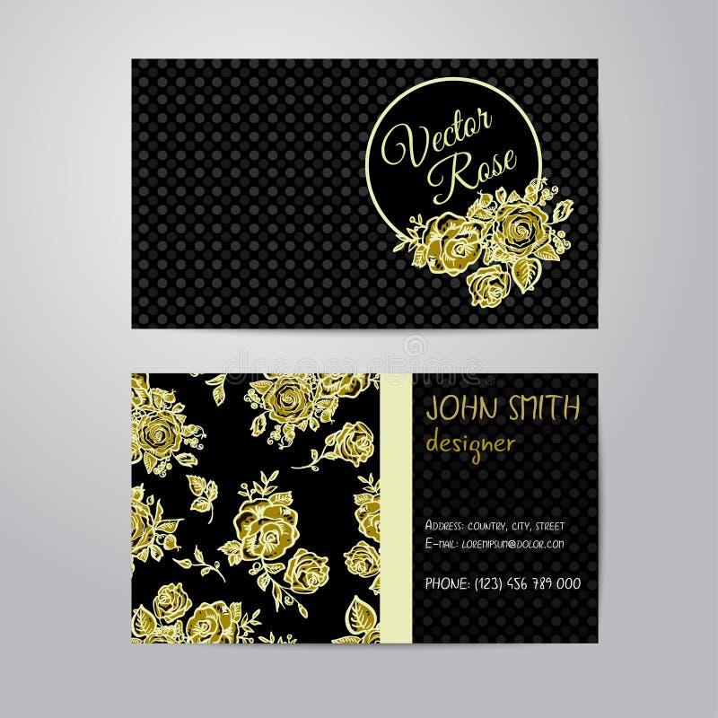 Geplaatste bloemenadreskaartjes vector illustratie