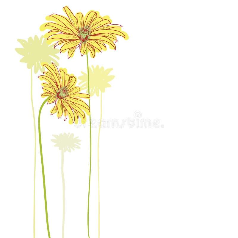 Geplaatste bloemenpictogrammen, vectorillustratie stock illustratie