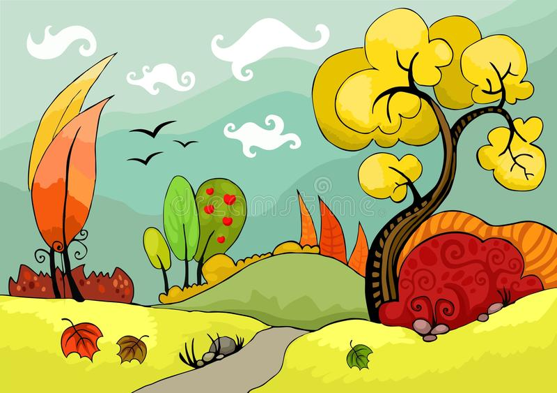 Geplaatste bomen vector illustratie