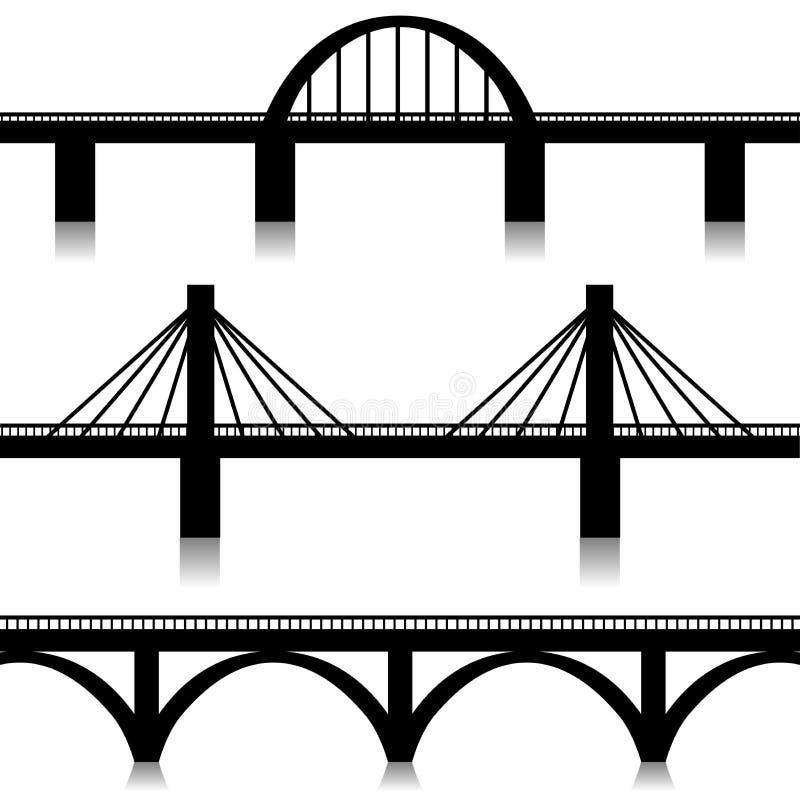 Geplaatste bruggen vector illustratie