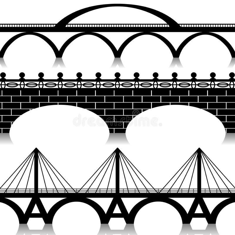 Geplaatste bruggen royalty-vrije illustratie