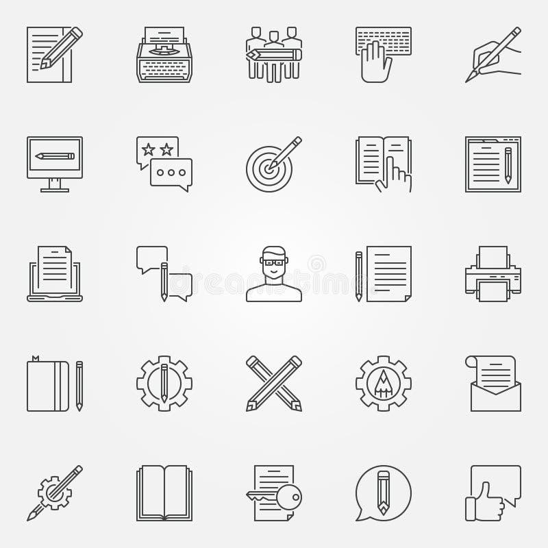 Geplaatste Copywritingspictogrammen stock illustratie