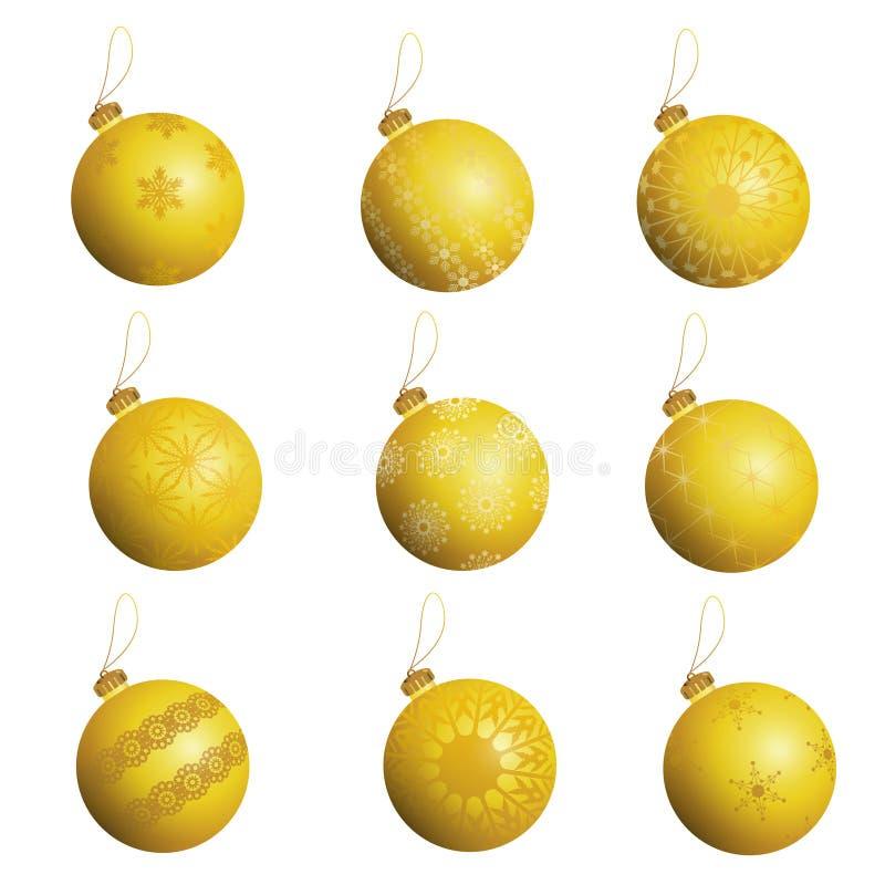 Geplaatste de ballen van Kerstmis royalty-vrije illustratie