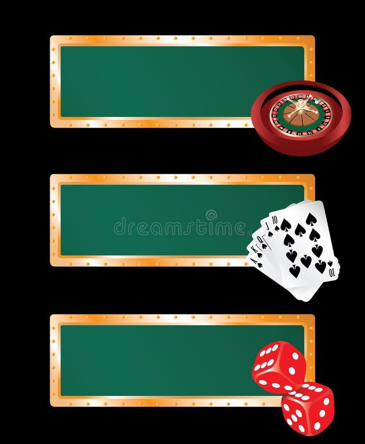 Geplaatste de banners van het casino royalty-vrije illustratie