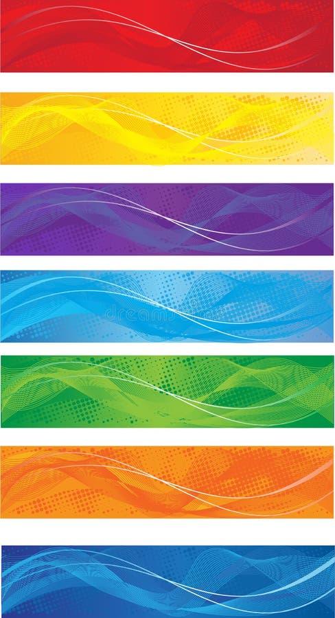 Geplaatste de banners van het Web royalty-vrije illustratie