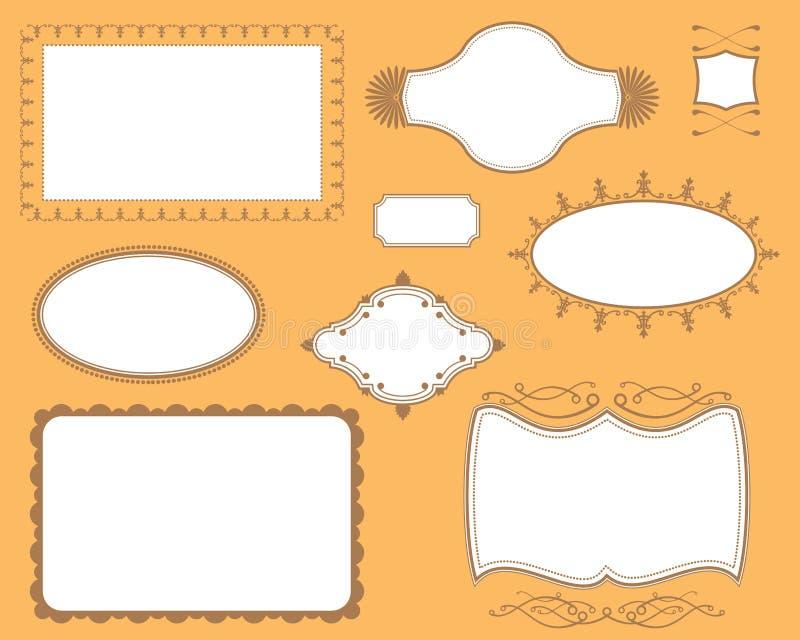 Geplaatste de Frames van de Platen van de Dekking van het boek royalty-vrije illustratie