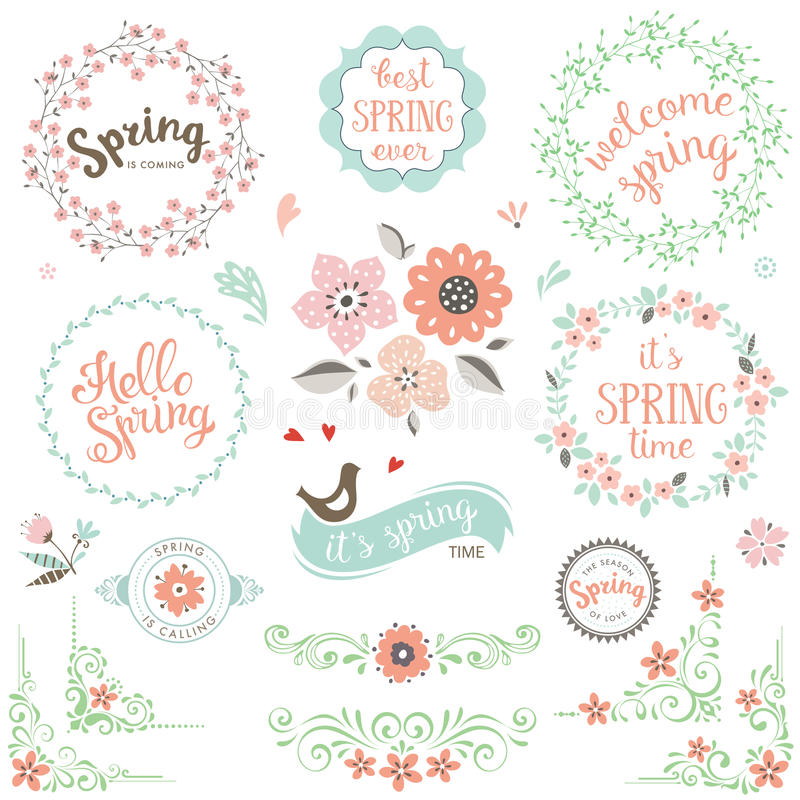 Geplaatste de lenteelementen